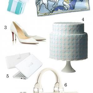 white and light blue theme wedding gifts, hantaran tema majlis perkahwinan putih dan biru muda