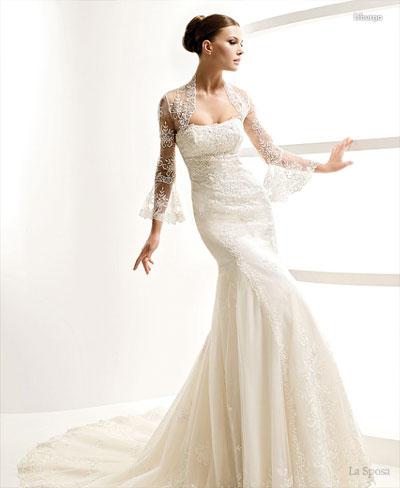 Baju pengantin putih muslimah, La Sposa bolero lace wedding gown