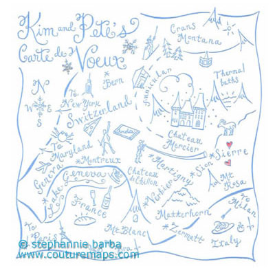 Wedding Invitations – Hand Drawn Maps | Wedding Inspirasi