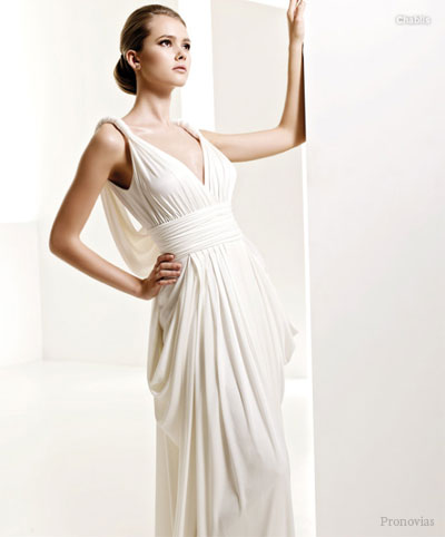 lace wedding dress with sleeves. Grecian dress with lotsa