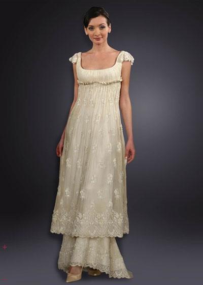 Retro Short Vintage Wedding Dresses Whirling Turban Dresses ...