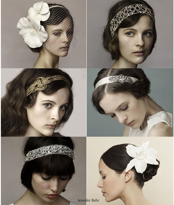 Jennifer Behr bridal hair accessories suitable for short and long hair