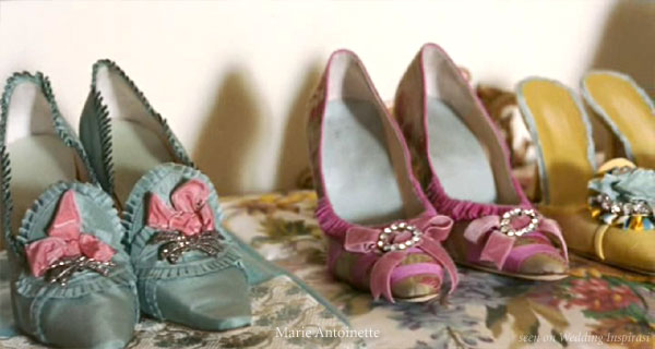 Wedding shoes in color - inspiration from the Sofia Coppola movie
