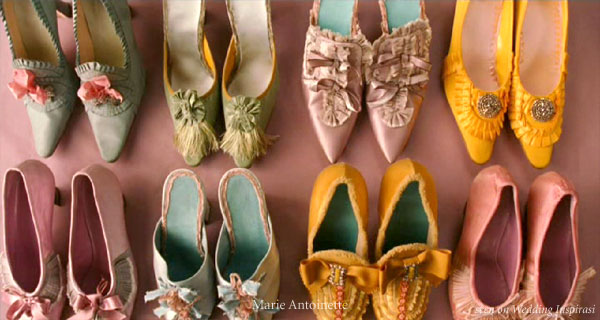 Marie Antoinette colorful shoes by Manolo Blahnik