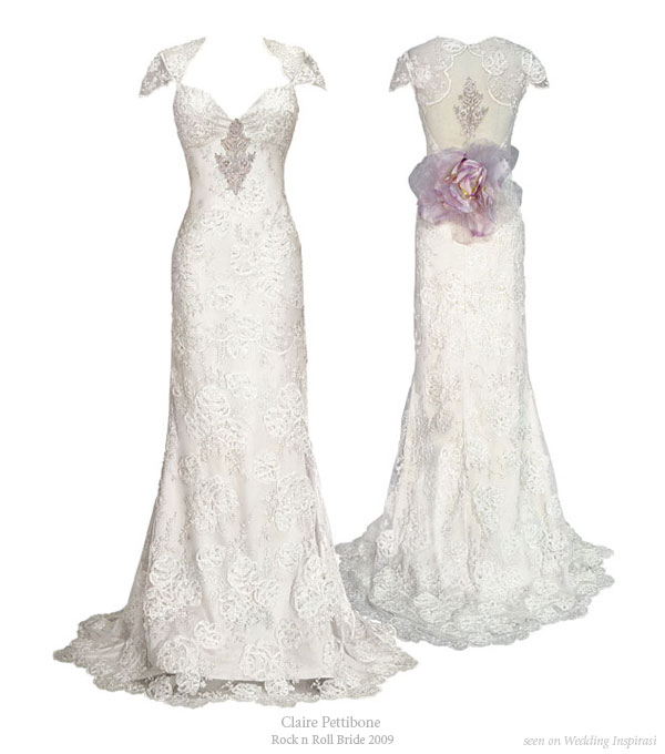 Claire pettibone rock n roll bride 2009 collection for Rock n roll wedding dress