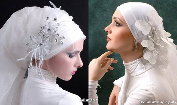 Wedding Hair Accessories, Hijab Scarves And Veil Styles By