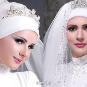 Tiara on a hijab and wedding veil - tiara untuk pengantin bertudung