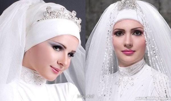 свадебные прически дляч ммусульманок фото