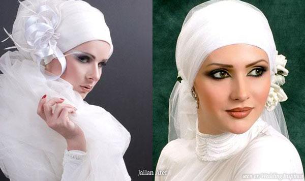 Wedding veil style for muslim wedding