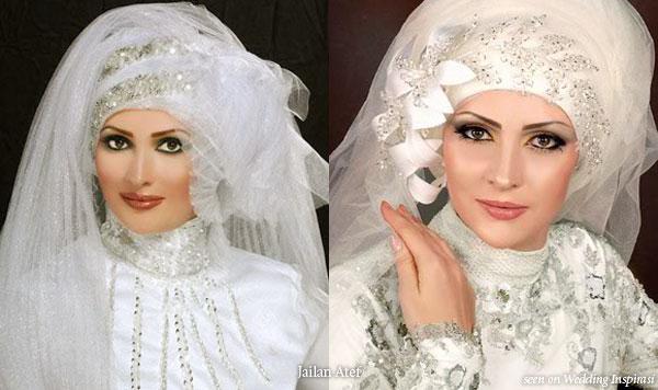 Wedding veil and hijab by Jailan Atef