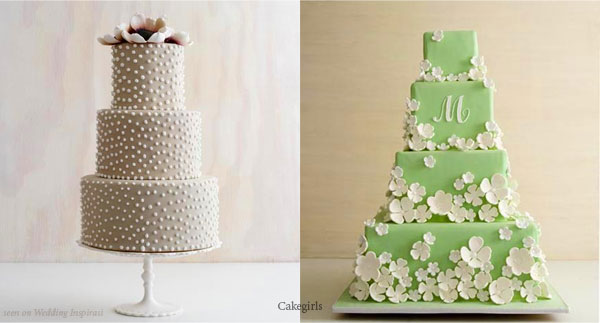 simple wedding cakes with flowers. Gateau de mariage - simple and