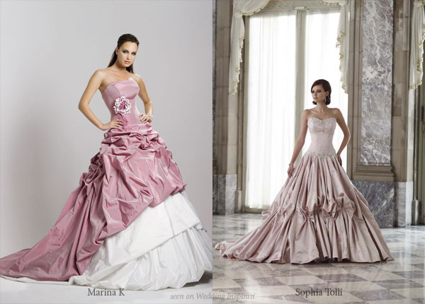 Pink ball gowns from Marina K and Sopha Tolli
