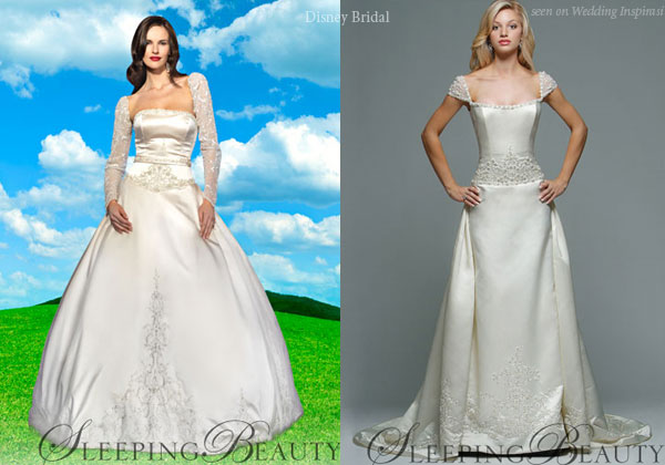 Disney Princess bridal gowns designed by Kirstie Kelly - shown here is Sleeping Beauty