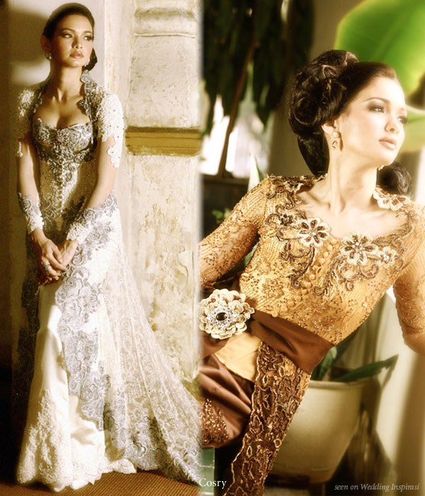 Contemporary Wedding Kebaya By Cosry Wedding Inspirasi
