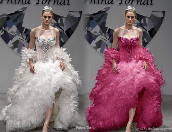 Kandace 39 s blog vera wang 39s wedding dress style diedre for Peacock feather wedding dress vera wang 2009