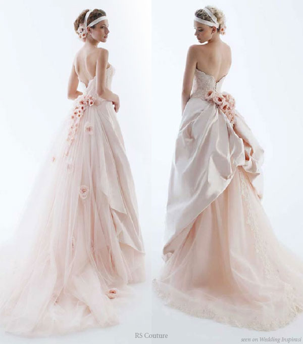 Wedding in color by rs couture wedding inspirasi for Pink wedding dresses pictures