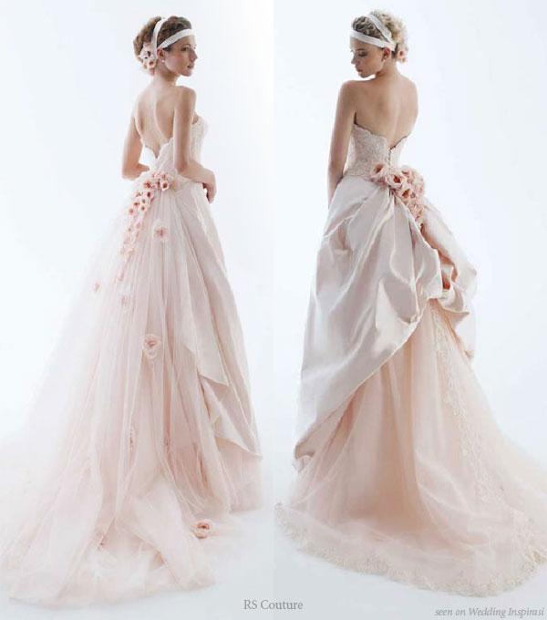 Бежевое свадебное платье 2010. light pink wedding dress Бежевое...