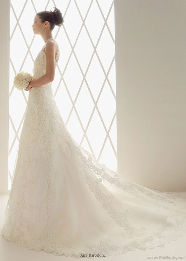 Aire Barcelona wedding dress - I do believe in love at first sight