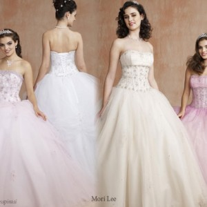 Small lady, big day - pretty pastel ball gowns fit for a Princess