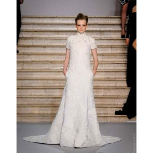 Stephane Rolland the wedding dress - long embroidered sweater dress in ivory tweed boucle
