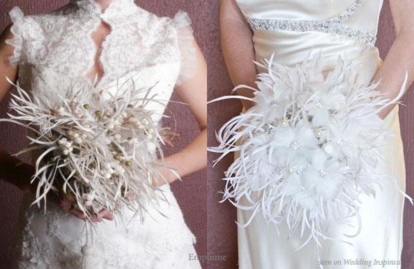 Feather Bouquets Wedding Flower Alternative Feather
