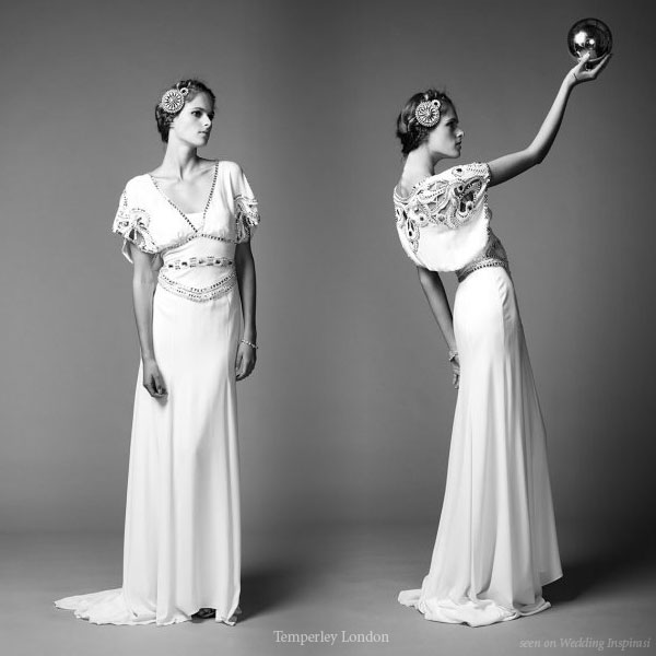 ... glamour inspired wedding gown Long Jean dress from Temperley London