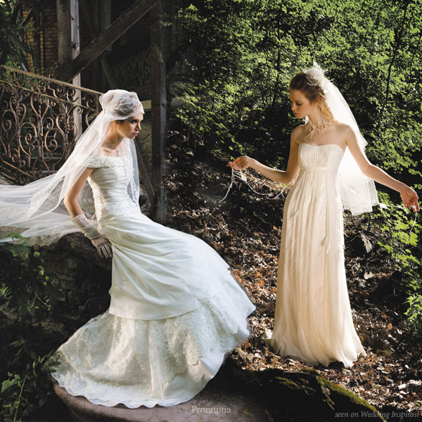Boheme collection Bohemian  wedding dress and veils from Pronuptia Paris