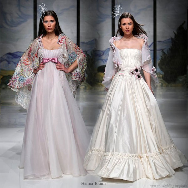 Bridal capes and flowery capelets from Lebanese designer Hanna Touma