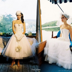 Mix and match styles - Bridal corset wedding dress by Joan Shum