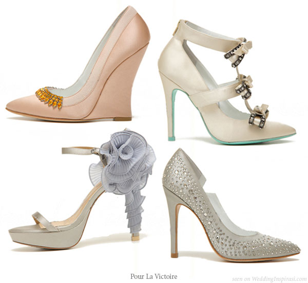 Wedding in color: designer high heel bridal shoes from Pour La Victoire by Jay Adoni and David Giordano