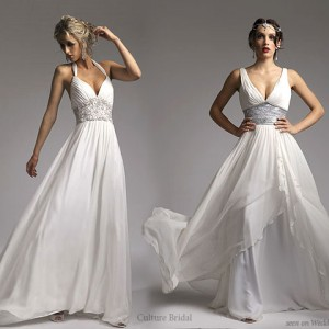 Culture bridal couture white grecian wedding