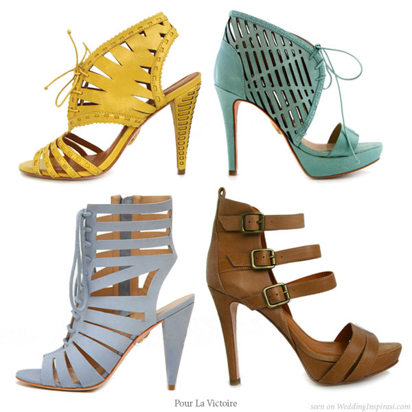 Pour la victoire - designer strappy high heel shoes and booties