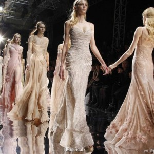 Models displaying dresses from Elie Saab Spring/Summer 2010 Haute Couture at Paris