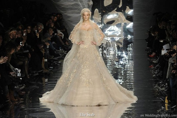 Ok we 39ll end with a real Elie Saab wedding dress