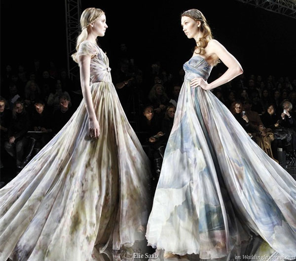 Elie saab spring summer 2010 haute couture wedding inspirasi for Painted on wedding dress