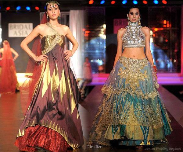 Ritu beri bridal collection wedding inspirasi for Indian fusion wedding dresses