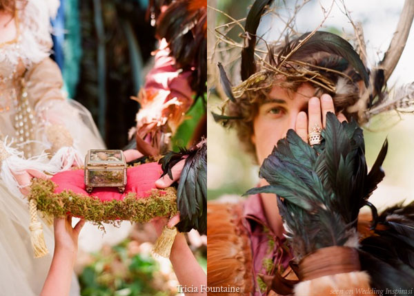 Fairy and elf wedding ring and costumes
