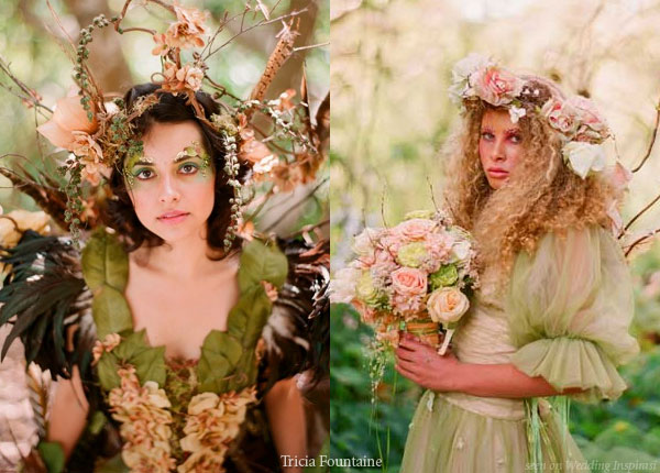 Enchanted forest wedding theme - green fairy and elf costumes