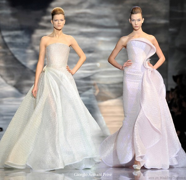 giorgio armani priv 2010 at paris fashion week wedding