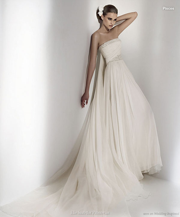 Grecian Style Wedding Gown: Elie By Elie Saab For Pronovias 2010 Wedding Collection