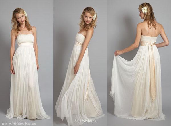 Свадебное платье в стиле ампир, или греческие свадебные платья.