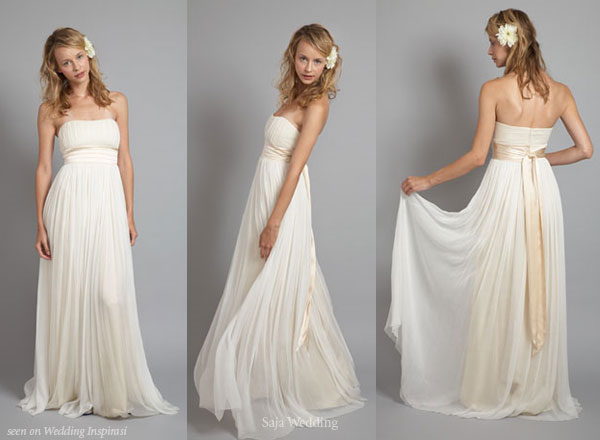 Saja wedding dresses wedding inspirasi for Greek goddess wedding dresses