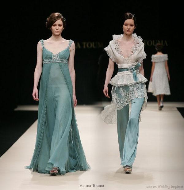 Sea Foam Green wedding dress and evening gown