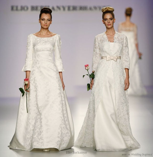 Vestidos de Novia - Long sleeve lace modest wedding dresses from Elio Berhanyer
