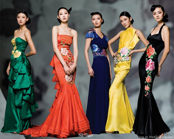Ne.Tiger, China's leading luxury fashion houses, presents Hua Fu collection using the 5 chinese color