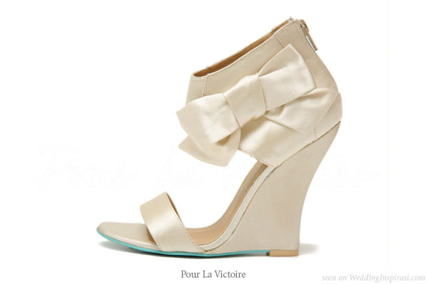 Designer bridal shoes with ribbon detail from Pour La Victoire designed by Jay Adoni and David Giordano