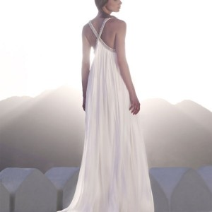Amanda Wakeley Sposa Bridal collection 09/10 Superfine jersey dress with swarovski beaded straps