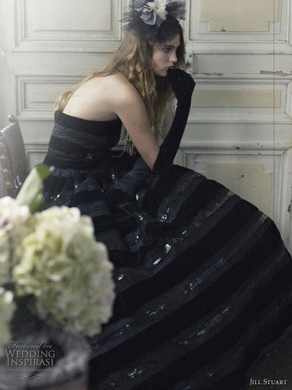 Would you wear a black wedding dress This one 39s a dark brooding beauty with