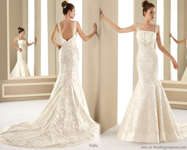 Wedding dress by Loly Cubo for Creaciones Nalia Novias Colecciones 2010 2011