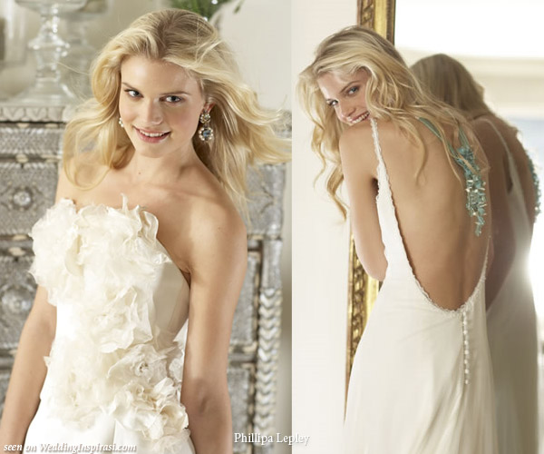 Elegant wedding gown by London's couture bridal dress designer Phillipa Lepley